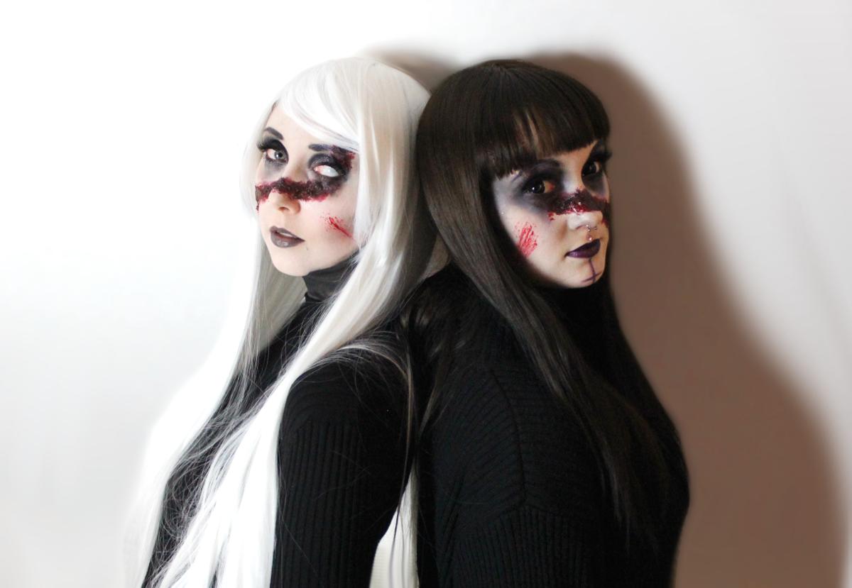 Demon Sisters Halloween Make Up Jadeblüte